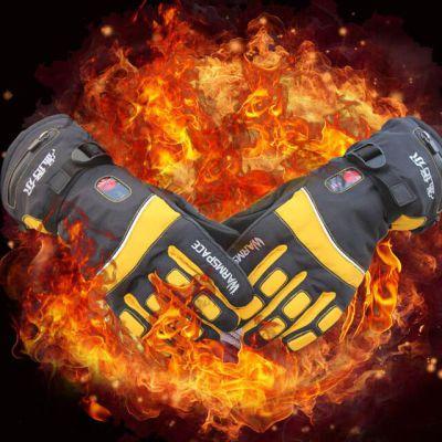 温倍尔(WARMSPACE) 加厚防风 智能温控 三档调温双面加热电热手套(高级款)送价值59.7元3双加厚冬袜
