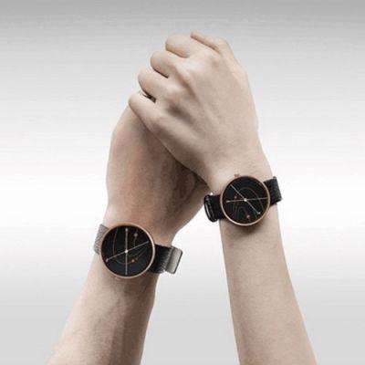 【德国红点设计,只属于你的时间】CIGA Design双针星辰爱情表(星辰皮带款)