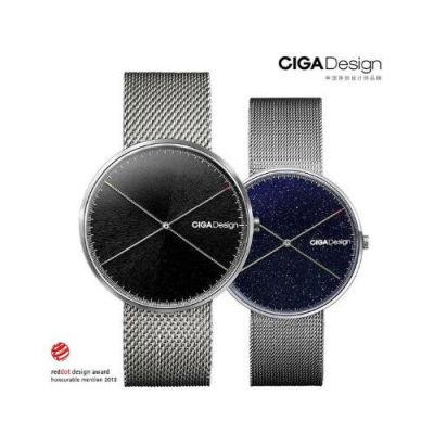 【德国红点设计,只属于你的时间】CIGA Design双针星空爱情侣对表(星空钢带款)