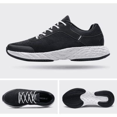 爆米能量新科技爆弹双动力跑鞋(黑白-情侣款)
