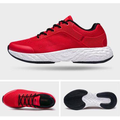 爆米能量新科技爆弹双动力跑鞋(红黑-男款)