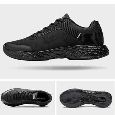 爆米能量新科技爆弹双动力跑鞋(神秘黑-情侣款)