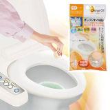 日本原装进口 橙味马桶清洁剂除臭片 下水管道除臭剂(4枚