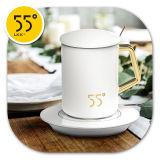 LKK55度 第3代恒温杯 暖心热牛奶加热器保温底座杯(
