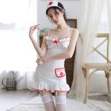 霏慕角色扮演情趣内衣 天使护士制服套装(发箍+护士裙+T