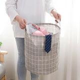 日式可折叠防水洗衣篮 手提浴室收纳筐 衣服收纳篮(大号)