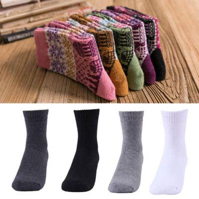 【FEEL MIND】男精梳棉/女羊毛 超厚冬季襪(3雙裝)