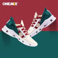 onemix玩觅 双重减震透气运动徒步鞋 潮流复古机械拼接 (情侣款,三色可