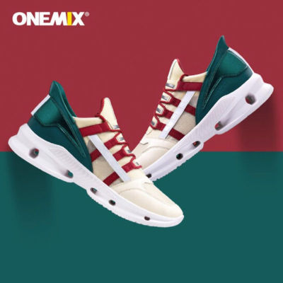 onemix玩覓 雙重減震透氣運動徒步鞋 潮流復古機械拼接 (情侶款,三色可選)