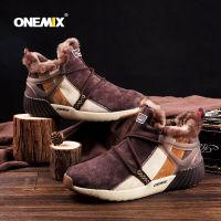 Onemix玩觅 秋冬保暖加绒雪地靴 防滑运动中帮短靴(情侣款)