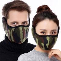 冬季护脸护耳 摇粒绒保暖防风口罩 360°全包透气(情侣款)