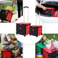 PACK&ROLL折叠手推车 超市购物拉杆车(大号65L 送盖子)