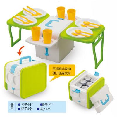 IMOTANI日本進口多功能保溫保冷野營折疊桌(送配套餐具)