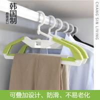 韩国进口 可叠加 360°旋转的创意防滑晾衣架2只装