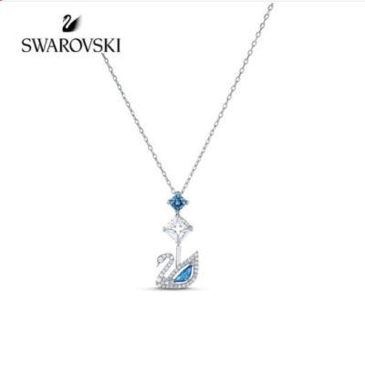 SWAROVSKI 施华洛世奇125周年纪念款 蓝调天鹅项链