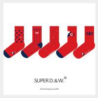 【原创设计】2021新年纯棉鸿运红色牛年福袜(单双装)