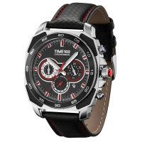 TIME100 经典极速系列跑车设计手表(精钢表壳&碳纤镶嵌)
