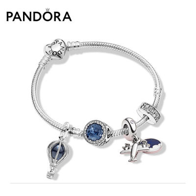 Pandora潘多拉漫步云端蓝色手链