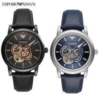 Armani阿玛尼 时尚复古撞色机械男士腕表