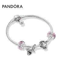 Pandora潘多拉粉色雏菊蜂靡我心手链套装ZT0579