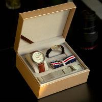 【中秋节礼盒】TIME100『一表三戴系列』石英钢带男表礼盒套装
