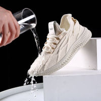 CARTELO卡帝乐鳄鱼新款防滑防水飞织休闲运动鞋