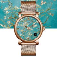 VanGogh梵高 瑞士原装进口 博物馆正版授权典藏系列石英手表-盛开的杏树
