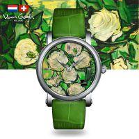 VanGogh梵高 瑞士原装进口 博物馆正版授权典藏系列石英手表-玫瑰与甲虫