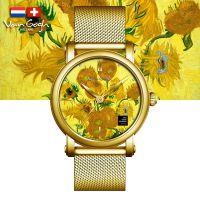 VanGogh梵高 瑞士原装进口 博物馆正版授权典藏系列石英手表-向日葵