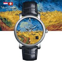 VanGogh梵高 瑞士原装进口 博物馆正版授权典藏系列石英手表-麦田群鸦(