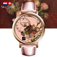VanGogh梵高 瑞士原装进口 博物馆正版授权画梦系列小表盘石英手表-紫苑