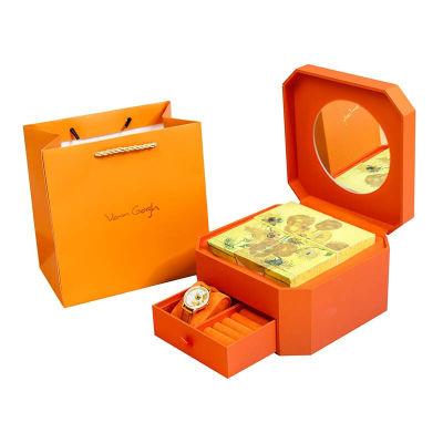VanGogh梵高 瑞士原装进口 博物馆正版授权 月光宝盒系列 4块月饼+向日葵手表(中秋礼盒装)