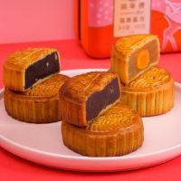 办公室下午茶:香港锦华糕点-月饼铁盒装600g★6人份