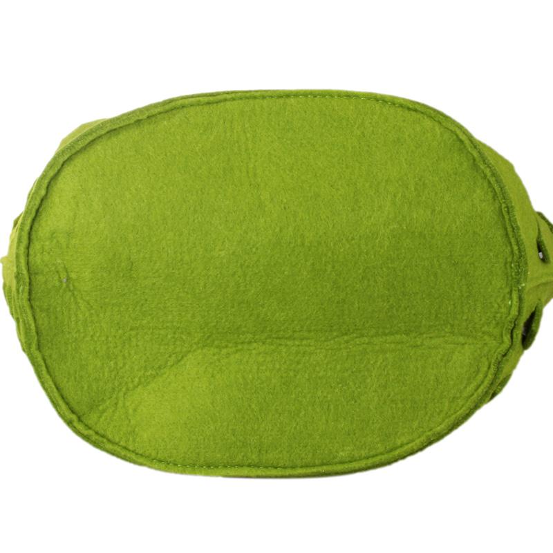 植村秀绿色水波纹手拎包